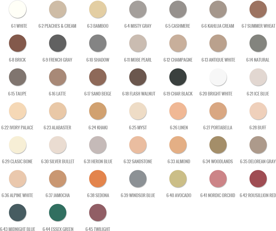 Vip Grout Tile Concepts Full Color Chart